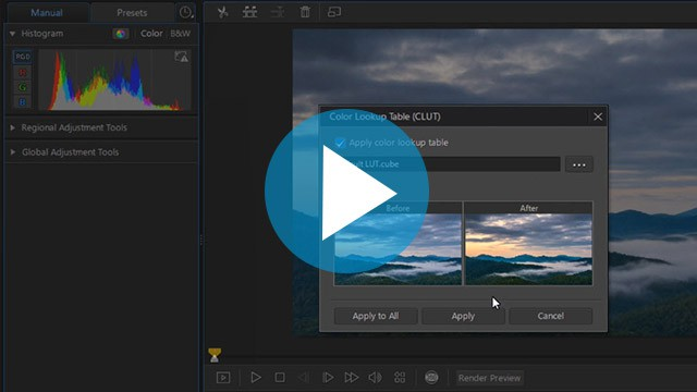 ColorDirector - Creating and Applying LUTs   The CyberLink Learning